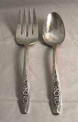 Wm. Rogers & Son International Silverplate Primrose Tablespoon & Cold Meat Fork