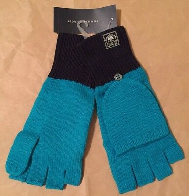 TOMMY HILFIGER Women's GLOVES Size: ONE SIZE New FREE SHIPPING Turquoise Blue