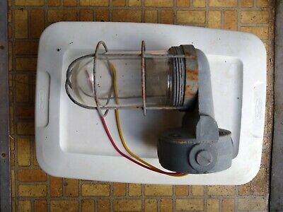 Vintage Explosion Proof Wall Mount Industrial Light Fixture
