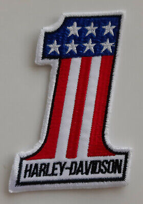 Harley Davidson Patch Aufnäher Nummer 1 No. 1 US Style Flagge