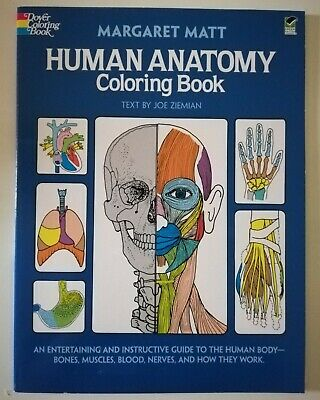 Human Anatomy Coloring Book (Dover Children's Science Books) - Paperback - GOOD