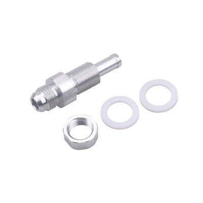 8AN Male Flare Bulkhead To 3//8 Hose Barb Fuel Tank Fitting LSX INNOVATIONS