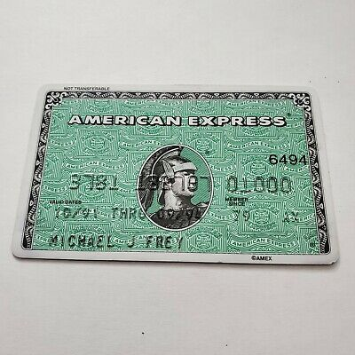 vintage American Express AMEX green credit card member since 1979