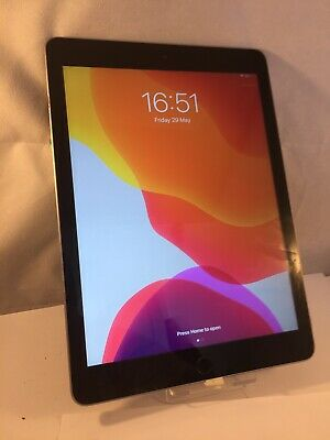 "Working Screen Fault Apple iPad 9.7"" 5th Gen A1822 32GB Wi-Fi Silver IOS Tablet"