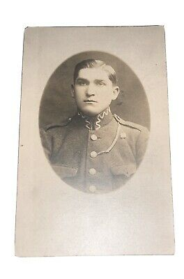 Picture Postcard Soldier Uniform Army WW1