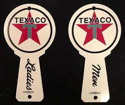 1950s Texaco Restroom Key Fobs, Vintage Gas & Oil, FACTORY SECONDS  KEY-0102-FS