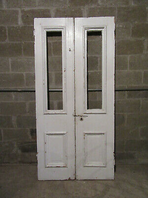 ~ ANTIQUE DOUBLE ENTRANCE FRENCH DOORS  ~ 40 x 83 ~ ARCHITECTURAL SALVAGE