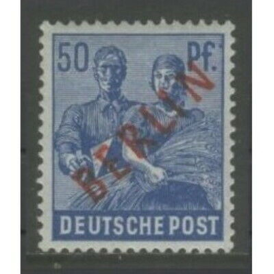 1949 Germany Berlin West  50 Pf.  with red overprint  mint**, signed, $ 108.00