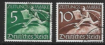 GERMANY - 1939.  Newspaper Stamps - Set of 2, Used.  Cat £17+