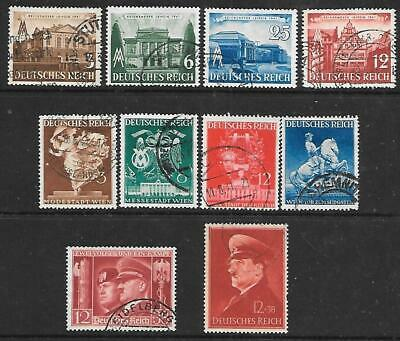 GERMANY - 2 x Sets & 2 x Singles, Used - 1941 Issues.  Cat £23+