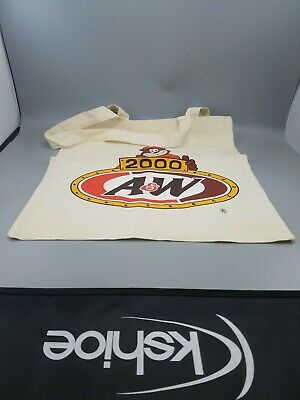 A&W Root beer collectibles advertising cloth bag year 2000 n.o.s