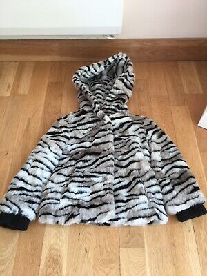 Juicy Couture Coat Jacket Age 4-5 Years Faux Fur Tiger Animal Print Designer