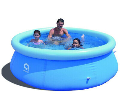 Swimming POOL 8ft FAST SET Inflatable Round LARGE Paddling FAMILY Kids 2.4m NEW