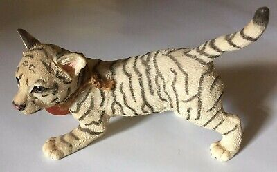 "Country Artist For The Discerning Hand Painted ""White Tiger Cub"" Figurine"