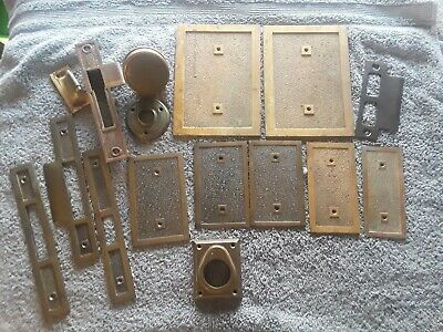 Unique Solid Brass Antique Door Hardware, Brass Plates,  Doorknob, and Rosette