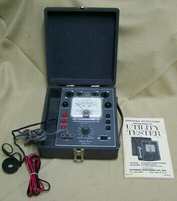 Vintage Accurate Instrument Utility&tube Tester 161 w eveready NEDA 8 battery