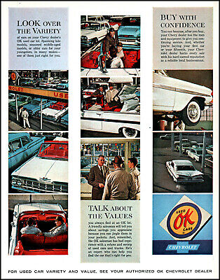 1962 Chevrolet Chevy Dealers OK Used Cars service vintage 9 photo print ad L28