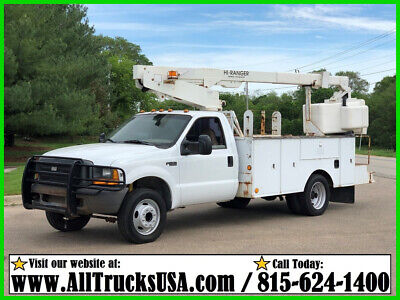 1999 Ford F450 7.3 DIESEL 34' HI-RANGER BUCKET TRUCK Used Regular Cab