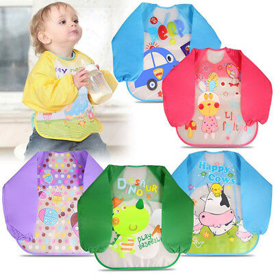 Kids Baby Bibs Apron EVA Eating Clothing Baby Stuff Feeding Accessories Cartoon