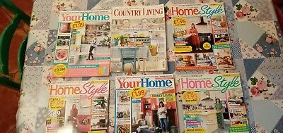 Joblot Home Magazines x 6  - COUNTRY LIVING  / YOUR HOME / HOME STYLE