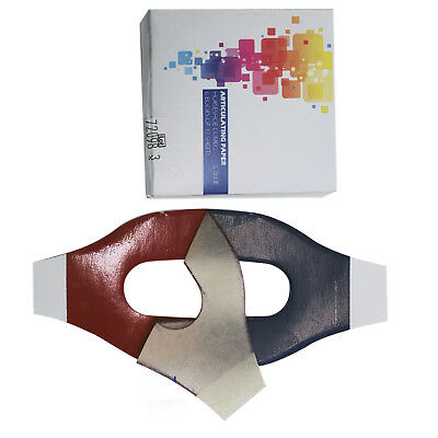 Red / Blue Articulating Paper Horseshoe 89 Microns 12 Books/Box