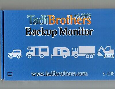 TadiBrothers Backup Monitor - brand new in the box / never used (instructions)