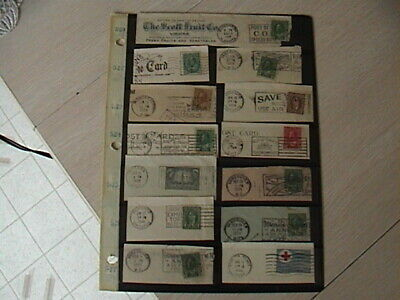 13 Older Used Stamps On Letter Heads (Very Nice)