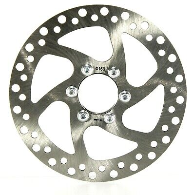 """NEW 160MM CYCLE BRAKE ROTOR / BRAKE DISCS WITH MOUNTING THREADED 1.375"""" x 24tpi"""