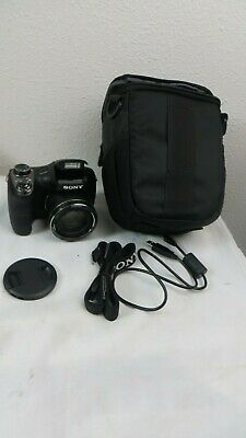 Sony Cyber-shot DSC-H300 20.1 MP Digital Camera - Black with Case and data cable