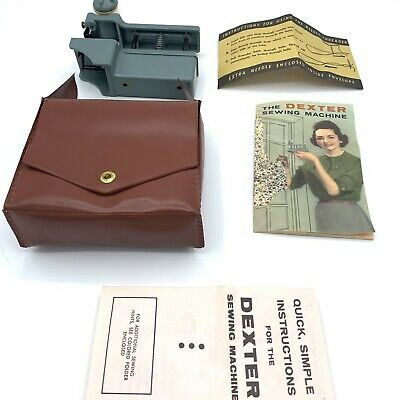 Vintage sewing machine The Dexter hand held sewer tool, Antique