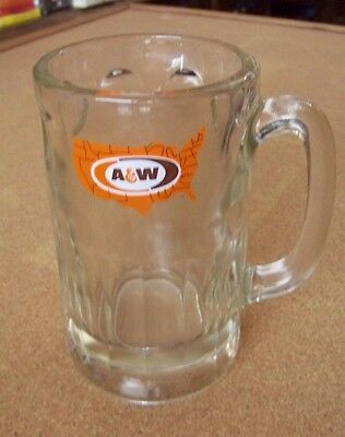 A&W Country logo root beer handled tankard glass stein