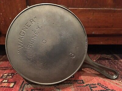 """Early  """"WAGNER"""" SIDNEY O Cast Iron Skillet #6 A -Arch Logo- Reconditioned - Nice"""