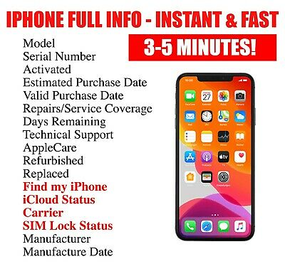 FAST iPhone info Check - IMEI / Simlock /Carrier /Find My Iphone /iCloud Status