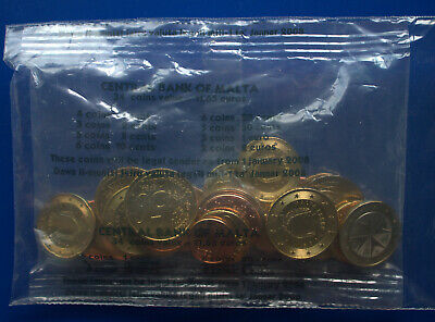 Bank of Malta 2008 Euro starter set, sealed, 34 uncirculated coins