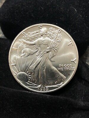 1989 American Silver Eagle 1 oz. Silver Spots or Scratches