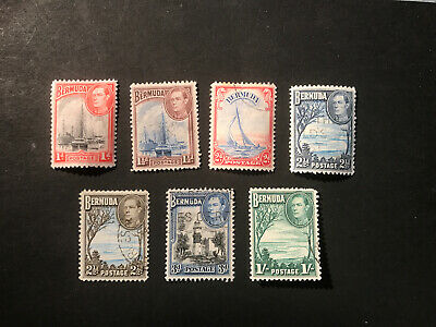 Stamps - Bc Kg6 Bahamas (7) Mix Cond & Vals All Show