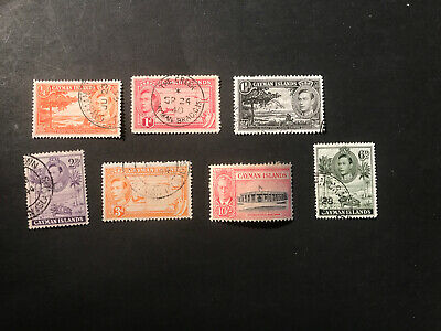 Stamps - Bc Kg6 Cayman Isl (7) Mix Cond & Vals  With 10/-