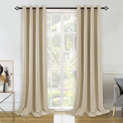 BGment Blackout Curtains for Bedroom - Grommet Thermal Insulated Room Darkening