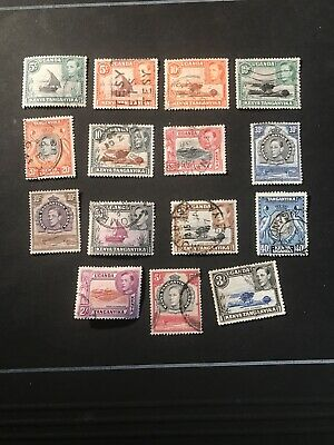Stamps - Bc Kg6 Kut Used (15) Mix Cond & Vals To 5/- All Show