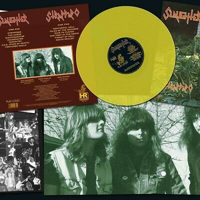 SLAUGHTER STRAPPADO Vinyl LP RED, BLACK or PISS YELLOW..Can be signed!!