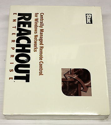 REACHOUT Enterprise Software - Remote Control for Windows Networks - NEW IN BOX!