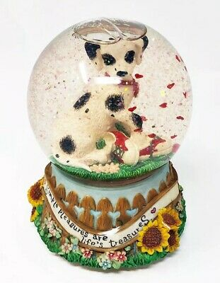 VTG Kelsey Collection Dalmatian Musical Snow Globe Plays Doggie In The Window