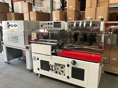 USED AUTO wrapper L Sealer wrapping wrapper machine with tunnel, £8000+VAT