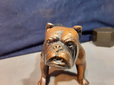 Vintage Copper Over Metal Growling Bulldog