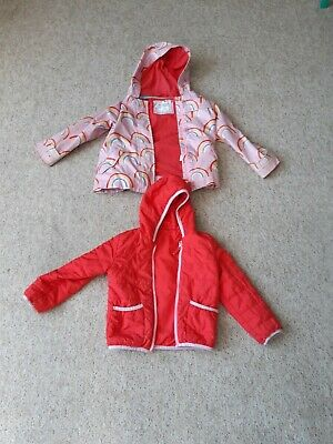 Marks and Spencer coat girls age 5 - 6, 2 part set pink rainbows