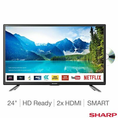 Sharp LC-24DHG6131 24 Inch HD Ready Smart TV with DVD Player