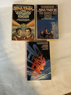 Vintage Star Trek Movie As Books Lot