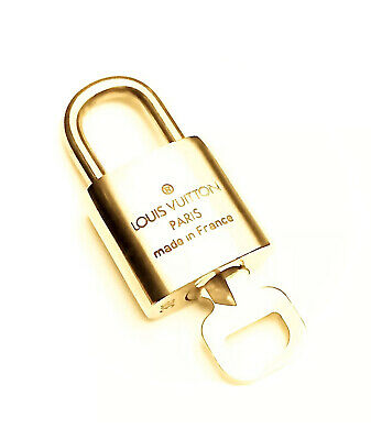 Louis Vuitton PadLock & Key Any # Brass Gold Charm Lock For LV Bag 💯% AUTHENTIC
