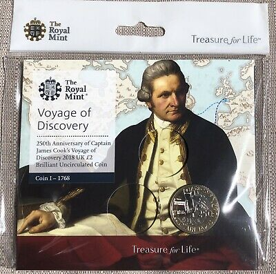 2018 CAPTAIN COOK Voyage of Discovery 2 TWO POUND COIN Brilliant Uncirculated BU