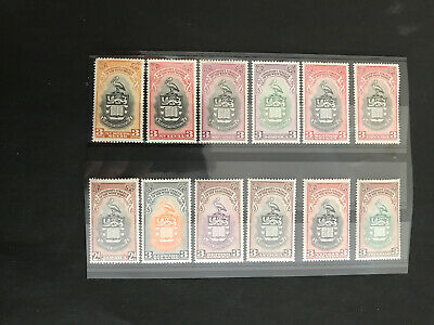 Stamps - Bc Kg6 Bwi Mint (12) Mixed Vals & Cond All Show